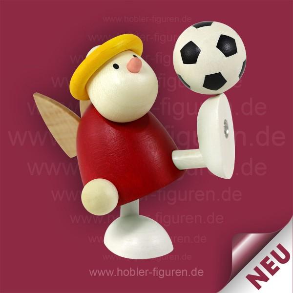 Fußballer mit Rot-Weiß Trikot