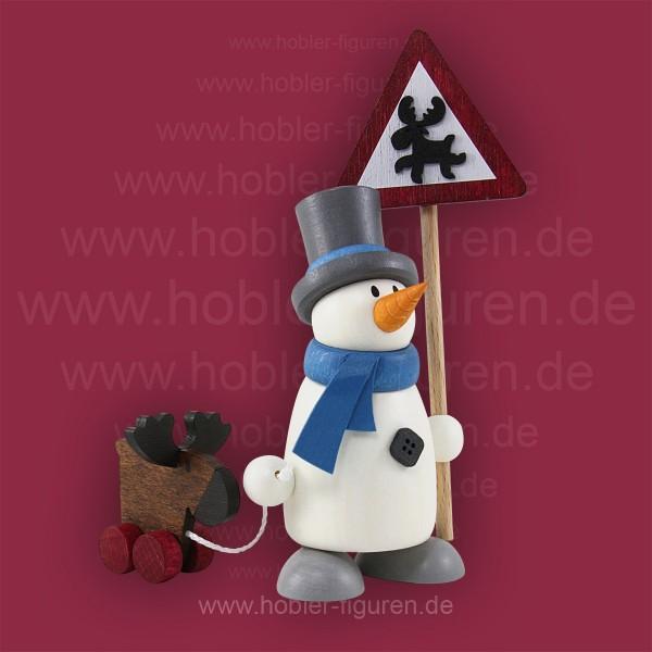 Fritz mit Schild und Elch