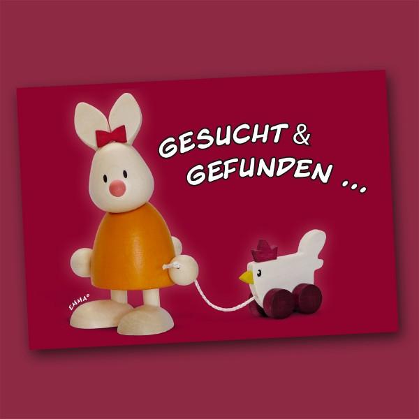 Postkarte mit Kaninchen Emma