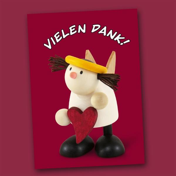 Postkarte mit Engelchen Lotte
