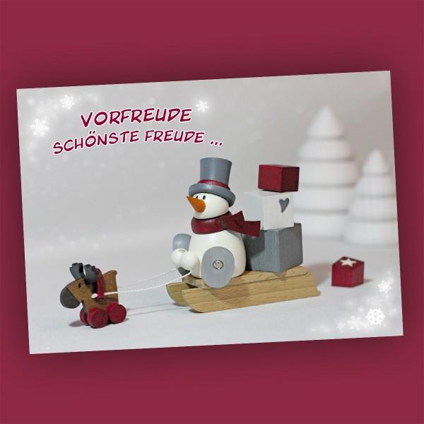 Weihnachtskarte mit Schneemann Otto