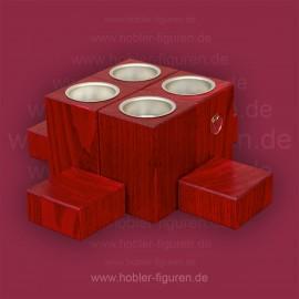 Adventsleuchter (Sockellicht 3 cm, 3 cm, 3 cm, 3 cm, 9 cm, 9 cm)