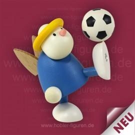 Fußballer mit Hellblau-Weiß Trikot
