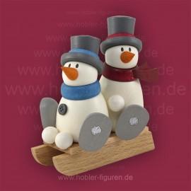 Fritz und Otto auf Schlitten
