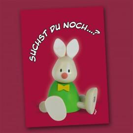 Postkarte mit Kaninchen Max