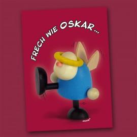 Postkarte mit Engelchen Oskar