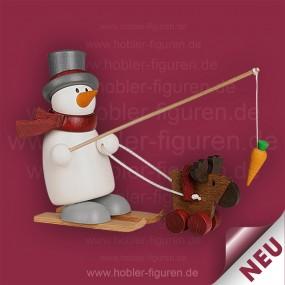 Fritz mit Ski und Elch